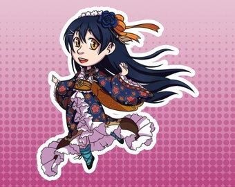 LLSIF Love Live School Idol Festival / School Idol Project - Umi Sonoda Taisho Roman Large Die Cut Vinyl Fan Art Sticker