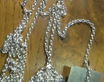 1 meter of small chain to the METAL meter silver five