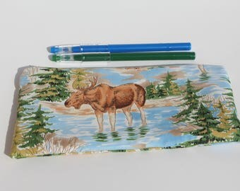 Moose Zipper Pouch