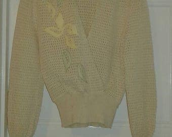 Vintage 40s Lightweight Knitwear Top