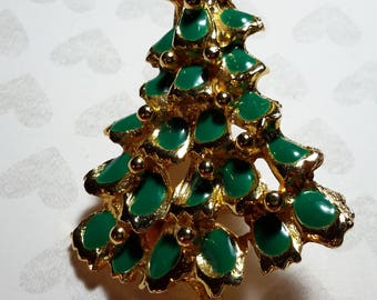 Vintage jewelry christmas tree | Etsy