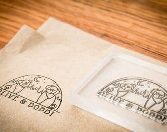 Custom Fabric Stamp - Width- 1 x 2 inches