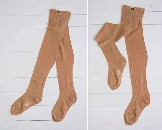 vintage flapper 1920s stockings | 1930s stockings cotton tights | 20s 30s pantyhose