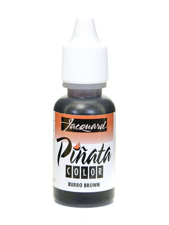 Burro Brown Jacquard Pinata Alcohol Ink alcohol based high vibrancy transparent colors. Perfect for polymer clay & more