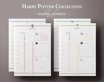 Wizard Weekly Planner Printable w/ Mood & Habit Tracker, Weekly Schedule, Planner Pages, Planner Inserts, Undated Planner, BuJo