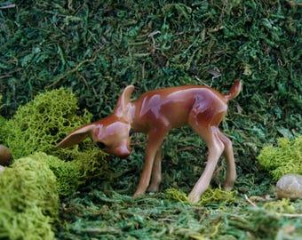 Deer - Fairy Garden - Terrarium - Bonsai - Succulent - Miniature Gardening - Woodland - Fine Porcelain Figurine