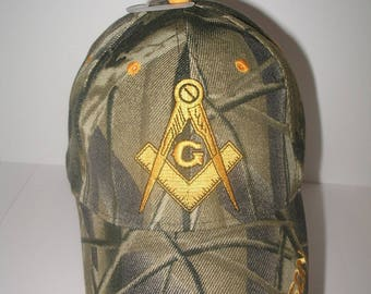 Freemason Embroidered Adjustable Hat Mason Masonic Lodge Baseball Cap