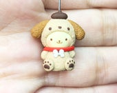 MADE TO ORDER - Cute Dog with Brown Puppy Costume Necklace