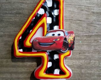 Lightning McQueen Birthday Candle, Cars Birthday