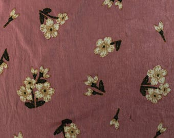 "Mauve Taupe 58"" Printed Satin Wash Fabric by the Yard-Style P-10004-455"