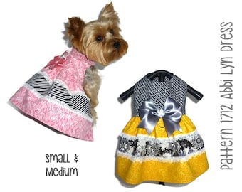Abbi Lyn Dog Dress Pattern 1712 * Small & Medium * Dog Clothes Sewing Pattern * Dog Harness Dress * Dog Apparel * Dog Clothing Patterns