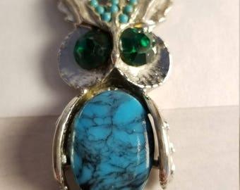 Vintage southwestern boho Owl pendant necklace