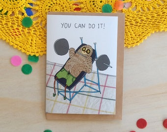 Greeting Card - You Can Do It