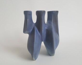 Rare Dutch blue Loré vase, designed by Matt Camps
