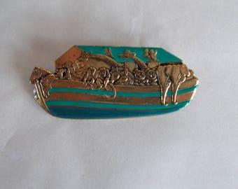 Vintage Noah's Ark Brooch Pin //12