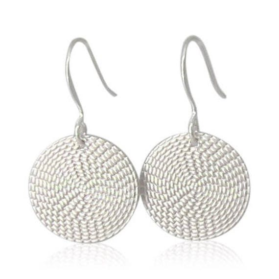 Simple Silver Coin Earrings