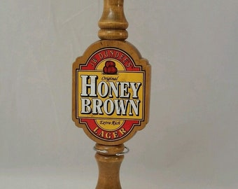 Wood JW Dundee's Beer Tap Handle Honey Brown