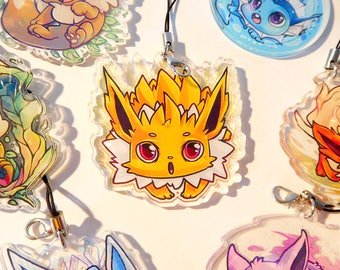 2 inch doubled sided acrylic Jolteon Charm