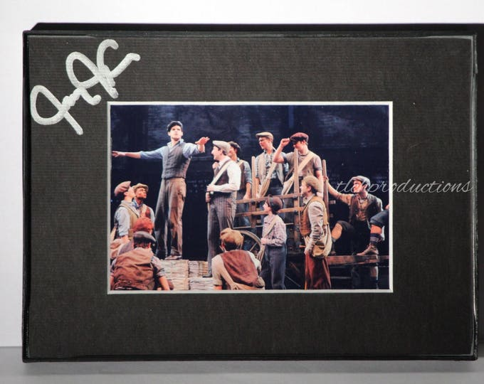 Newsies - Broadway - Jeremy Jordan Matted Framed Signed 4x6
