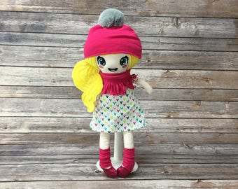 """Doll 15 """", pink, gift for girl"""