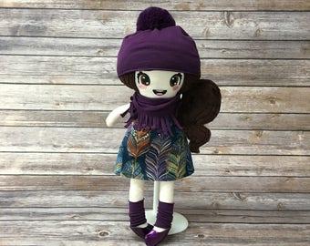 "Doll 15 "", purple, gift for girl"
