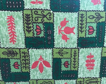 Vintage Fabric* mid century Barkcloth or heavy cotton by the yard