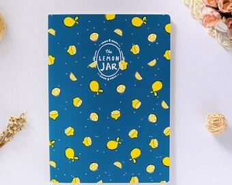 Fruit Jar Notebook Lemon Banana Watermelon