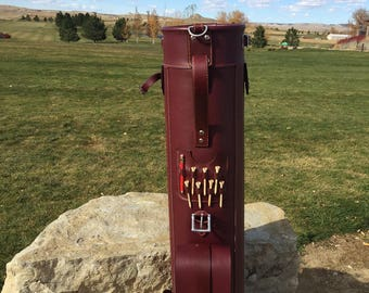 Hand Crafted Oxblood Leather Golf Bag
