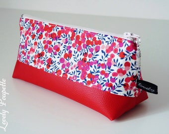 Kit Kit Liberty triangle, pencils, makeup bag, pencil case, zipper pouch, make up bag, make up pouch