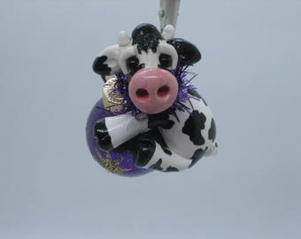 Cow Ornament Made to Order