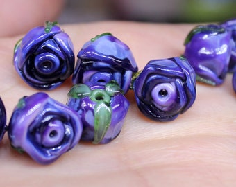purple rose buds 12mm