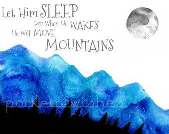 Let Him Sleep -PRINT- Nursery Art