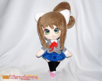 JUST MONIKA. 34cm ( 39cm) or  13in (16in) minky handcrafted plush