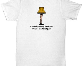 Christmas Story Leg Lamp Beautiful Funny Gift Shirt Movie Old Man