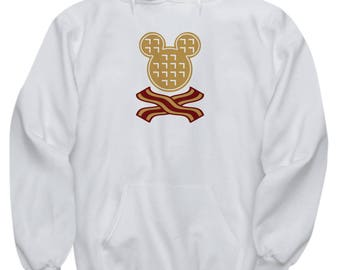 Mickey Waffles Bacon Disney Fun Gift Hoodie Disneyland Breakfast Brunch Waffle Mouse