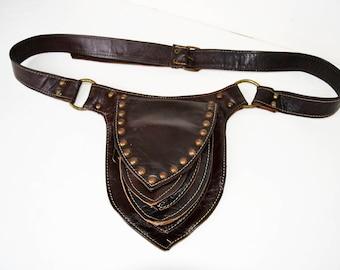 Leather waistband, handmade waistband