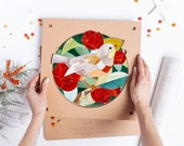 Unique Christmas gifts for wife Art design kit Stained glass mosaic wall art DIY kits for adults Unique christmas gifts for girlfriend