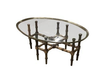Customizable Bamboo & Glass Coffee Table | 1724-02847