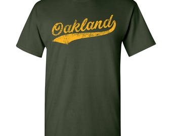 Oakland City Script T-Shirt - Forest