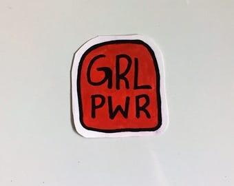 grl pwr feminist girl power sticker