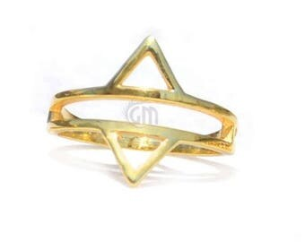50% OFF Opposites Attract Ring Gold Plated , Band Ring, Wedding Band Ring, - Ring Size- 7us (GP7-12020)