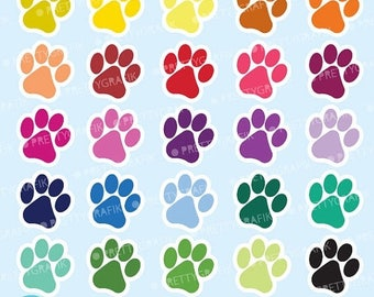 80% OFF SALE Paws clipart commercial use, dog paws vector graphics, puppy paws digital clip art, digital images  - CL569