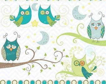 80% OFF SALE Owl clipart commercial use, vector graphics, digital clip art, digital images - CL439