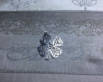 1 Pc. Antique Silver Filigree Charm Pendant/Connector