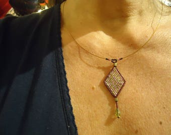 """Necklace Choker """"flying deer"""" beads beadwoven uniquely well! MAPERLE"""
