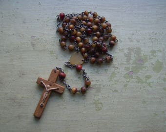 Vintage Rosary/Crucifix/Cross - Horn & Wood.