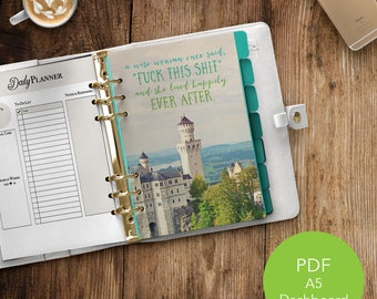 A5 Planner Dashboard | Printable Dashboard | Planner Dashboard| A5 Dashboard | Printable Planner | PDF Printable | Happily Ever After