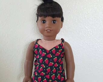 Romper for 18 inch dolls by The Glam Doll - Strawberry