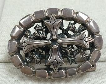 Soffer Ari .925 Silver Belt Buckle - Similar To Chrome Hearts!!