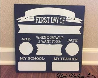 First Day of School Reusable Sign (dry erase)